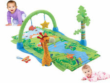 KIDS CHILDRENS BABY TROPICAL SAFARI RAIN FOREST THEME MULTI PLAY MAT SOFT TOY