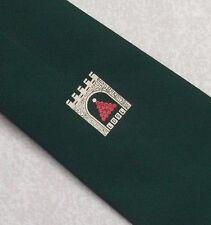 Snooker Bolas Crest Motif Tie ldsl Vintage Retro Verde 1970s 1980S Club