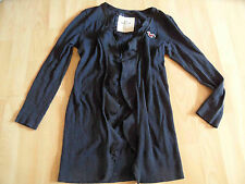 HOLLISTER schöne  Strickjacke m. Volants blau Gr. S TOP 615