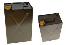 Schweizer Kraftstoff Kanister 10L Metall oliv gebraucht für Öl Benzin Petroleum