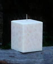 200hr ASIA PEAR PERSIMMONS Strong Scented Elegant Square CANDLE & Bevelled Edges