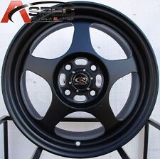 15X6.5 ROTA SLIPSTREAM WHEELS 4X100 RIMS FITS CIVIC CRX HONDA FIT DEL SO EG EG