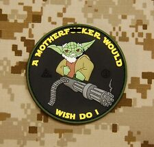 Tactical Yoda Mini Gun 3D PVC Patch Morale Ac-130 Door Gunner VELCRO® Brand