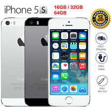 """Apple iPhone 5S- 16 32 64GB GSM """"Factory Unlocked"""" Smartphone Gold Gray Silver B"""