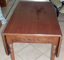 GENUINE ANTIQUE VICTORIAN DROP SIDE MAHOGANY TABLE
