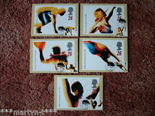 PHQ Cards FDI Front No 180 Swifter Higher Stronger 1996, 5 cards. Mint Condition