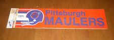 1983 USFL PITTSBURGH MAULERS BUMPER STICKER