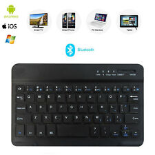 Bluetooth Wireless Slim Keyboard with Built-in Battery for iOS Windows Android