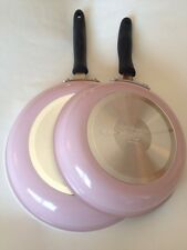 Pink Cuisinart Skillet Fry Pan Set 8, 10 Inches Rare