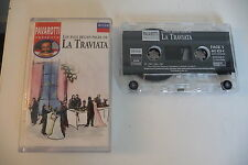 PAVAROTTI PRESENTE LES PLUS BELLES PAGES DE LA TRAVIATA. K7 AUDIO TAPE CASSETTE.
