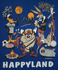 VTG '93 Looney Tunes/Salvation Army Camp Happyland T-Shirt-Velva Sheen Sz XL EUC