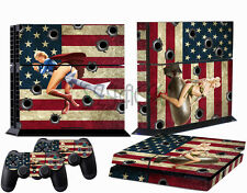 Sticker Skins for Playstation 4 PS4 Console + 2 Free Controller US Sexy Girl