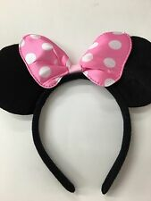 Minnie Mouse Ears - Pink Bow Minnie ears/ headband/ Disney party/Disney ears