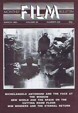 MICHELANGELO ANTONIONI / WIM WENDERS Monthly Film Bulletin Mar 1983