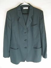 Giorgio Armani Le Collezioni Womens Pant Suit Green Made in Italy Virgin Wool 16