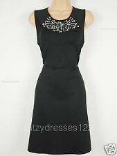 BNWT Definitions Black Jewel Embellished Scuba Occasion Dress Size 22 RRP £57