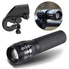 2000LM 3Modes Cycling Bike Bicycle Light Zoomable Q5 LED Flashlight Torch+Mount