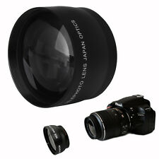52mm 2x Coated Telephoto Lens for Nikon AF-S DX Nikkor 18-55mm AF-S 55-200mm