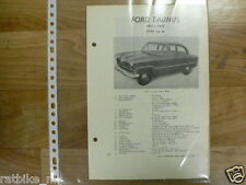 FO06A-FORD   TAUNUS 15M 1955-1958 GERMANY -TECHNICAL INFO CLASSIC CAR OLDTIMER