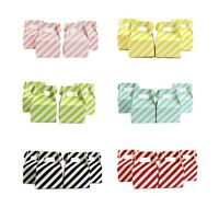 12/24/36x Stripe Paper Candy Box Birthday Party Wedding Favour Sweets Gift Bags