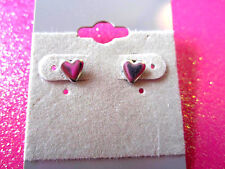Mini Silver Heart Earrings 1/4 Inch