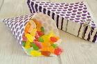 100 Papiertüten Spitztüten Herzen lila 19cm Geschenktüten CandyBar Give away
