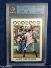 Alex Rodriguez JSA/BGS 2008 Topps National Baseball #1 On-Card Auto Autograph