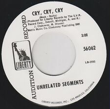 "UNRELATED SEGMENTS Cry Cry Cry LIBERTY 7"" Reissue GENIUS 1967 GARAGE PUNK Hear"