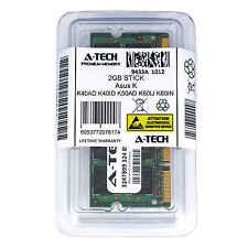 2GB SODIMM Asus K40AD K40ID K50AD K60IJ K60IN K61IC K70AD K70IC Ram Memory