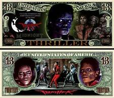 Michael Jackson Halloween Thriller Million Dollar Bill Novelty Money FREE Sleeve