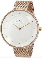 Skagen Watch * SKW2142 Gitte Silver Face Rose Gold Steel Mesh Women COD PayPal