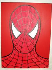 Canvas Painting Spider-Man Red Mask B&W 16x12 inch Acrylic