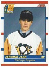 1990-91 SCORE HOCKEY #428 JAROMIR JAGR ROOKIE - NEAR MINT-