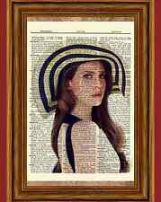 Lana Del Ray Dictionary Art Poster Picture Musician Summertime Sadness Vintage