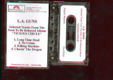 L.A. Guns Selected Tracks From Vicious Circle PROMO USA Cassette Tape