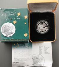 "2004 Australia 50 Cent Proof 999 Silver Rabbit Coin ""Winning Design"" +BOX & COA"