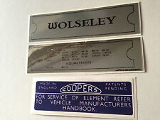Wolseley Hornet 1300 & 1500 Engine Decal Sticker Pack Chassis Plate Air Box