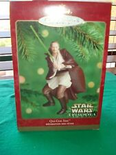 2000 Hallmark STAR WARS QUI-ON JINN Christmas Ornament