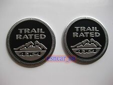 2pcs Trail Rated 4x4 Emblem Decal Badge Sticker For Jeep Wrangler Grand