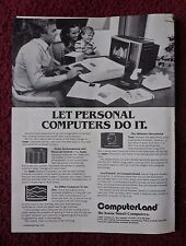 1979 Print Ad APPLE Personal Computer ~ Let Computers Do It COMPUTERLAND