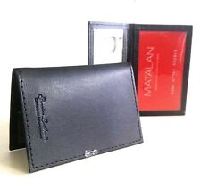 2 x Soft Black Credit Card, Travel Pass, Oyster ID Holder Genuine Leatherite