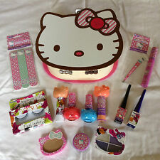 HELLO KITTY Custodia & Make Up Set-CIOCCOLATO pieno di Hello Kitty MAKE UP GOODIES