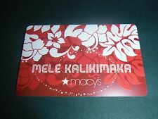 New Macy's Mele Kalikimaka Christmas Flower Hibiscus Gift Card NO MONEY VALUE