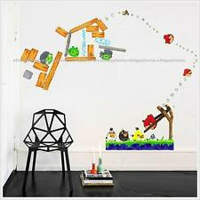 ANGRY BIRDS Reusable Wall Stickers Kids Nursery Boys Children Bedroom Decals
