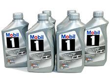 Mobil 1 SAE 0W-40 Fully Synthetic Engine Motor Oil 6 1-Quart Bottles 98HC64 NEW