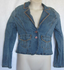 Womans Tommy Jeans Blue Jean Denim Jacket Size XL Blazer Cut