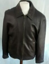 Marks & Spencer™ Men's Brown Leather Jacket ***24w 28l medium/large***
