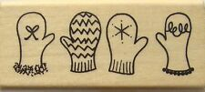 MITTS Rubber Stamp 3-2107D A Muse Artstamps winter snow mittens Brand NEW!