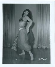 BETTIE PAGE PIN-UP ORIGINAL PHOTO FROM VINTAGE IRVING KLAW NEGATIVE #BP101