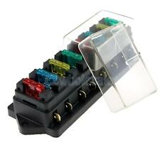 8 Way Circuit Car Boat Auto Automotive Blade Fuse Box Block Holder ATC ATO